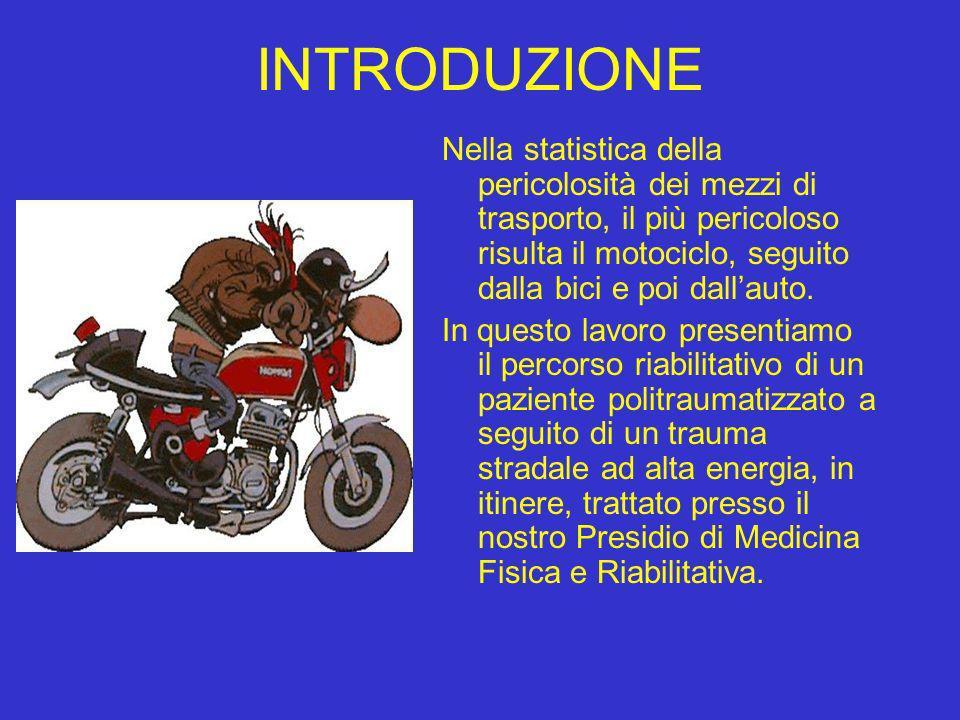 INTRODUZIONE Nella statistica della pericolosità dei mezzi di trasporto, il più pericoloso risulta il motociclo, seguito dalla bici e poi dall'auto.