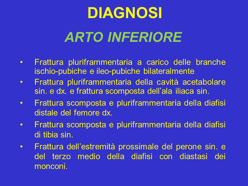 DIAGNOSI ARTO INFERIORE