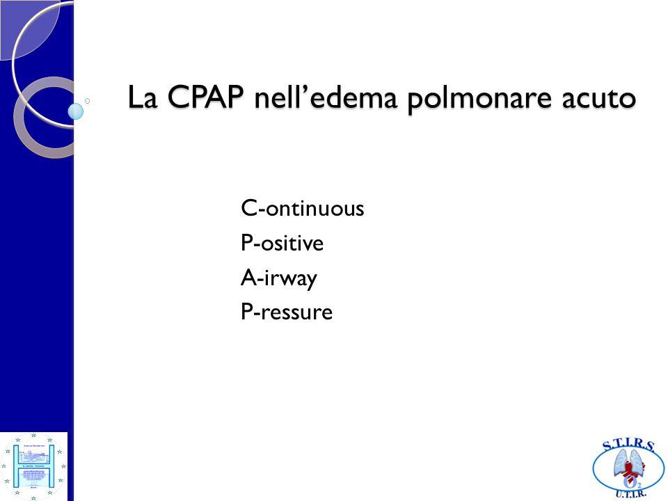 La CPAP nell'edema polmonare acuto