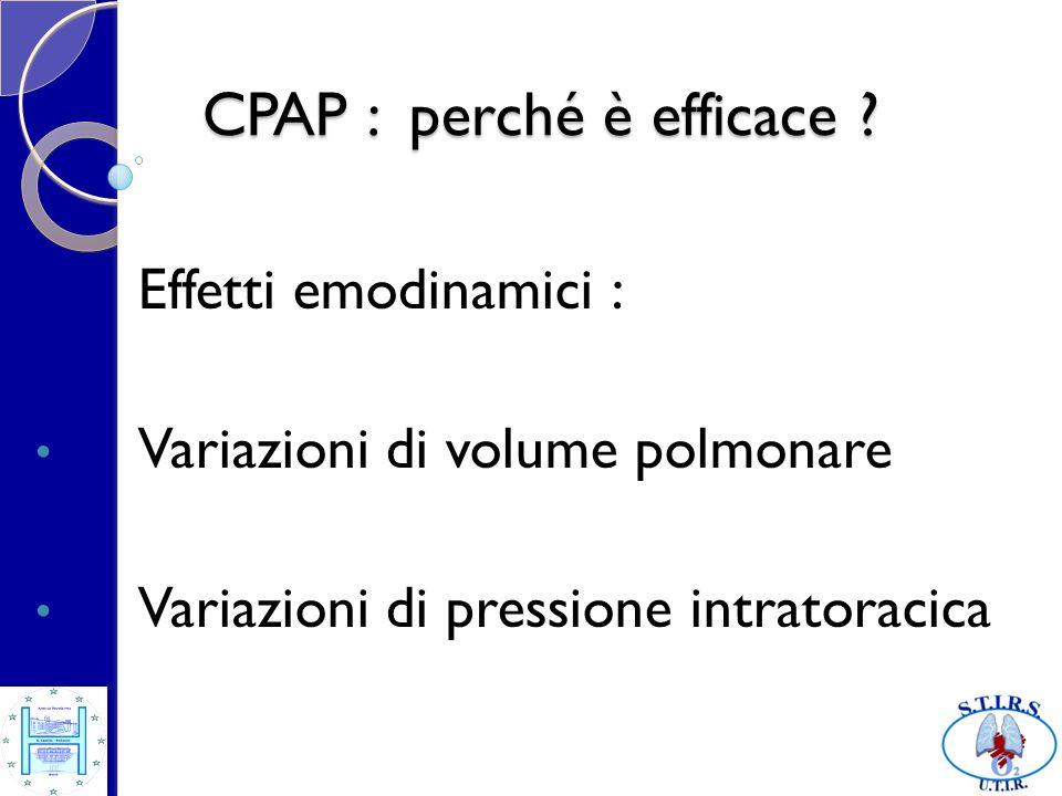 CPAP : perché è efficace