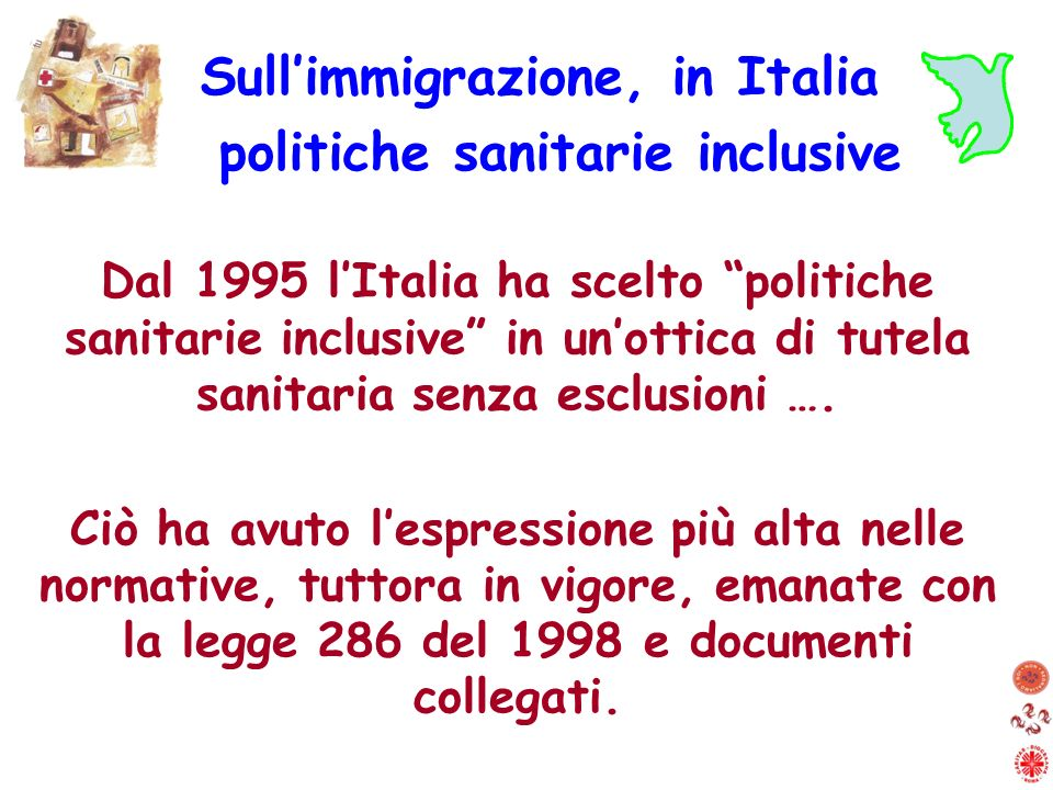 Sull'immigrazione, in Italia politiche sanitarie inclusive