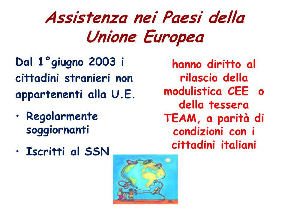 Assistenza nei Paesi della Unione Europea