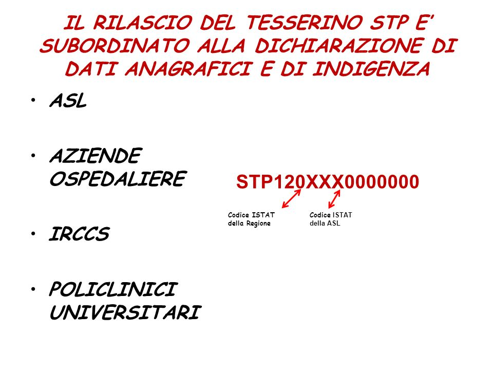 POLICLINICI UNIVERSITARI STP120XXX0000000