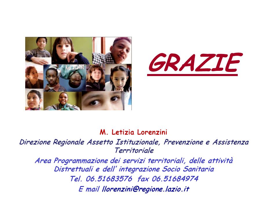 E mail llorenzini@regione.lazio.it