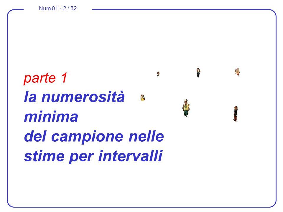 parte 1 la numerosità minima del campione nelle stime per intervalli