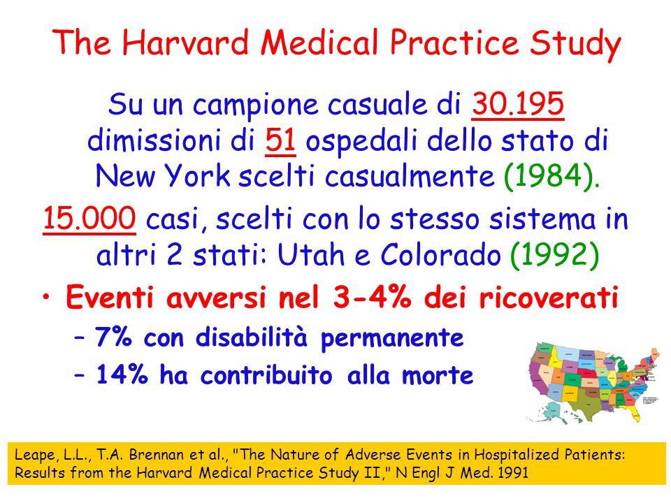 The Harvard Medical Practice Study