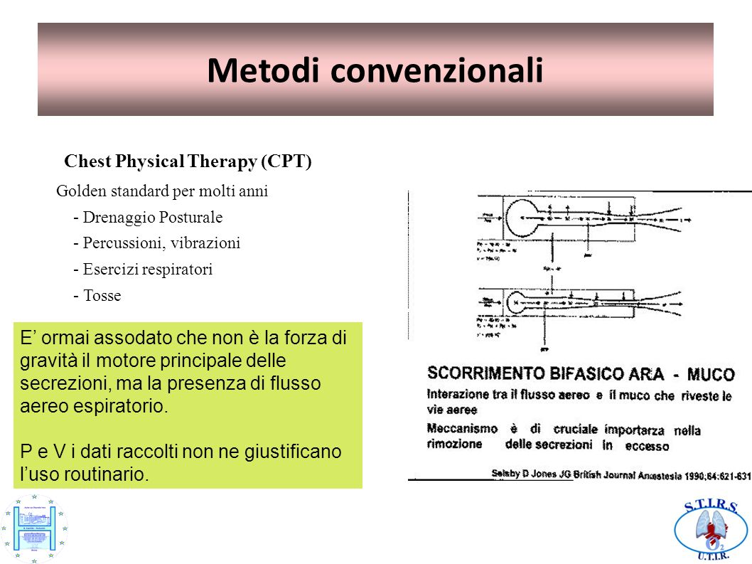 Metodi convenzionali Chest Physical Therapy (CPT)‏