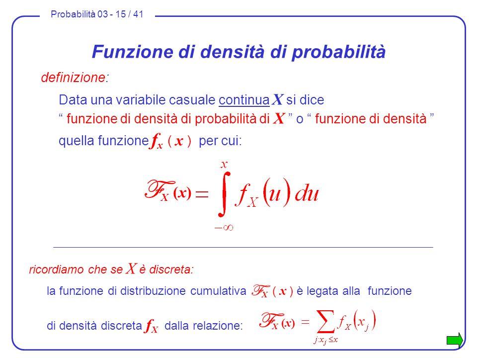 Funzione di densità di probabilità