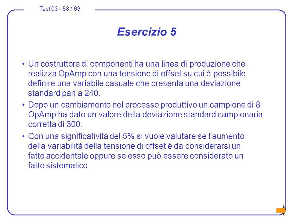 Esercizio 5