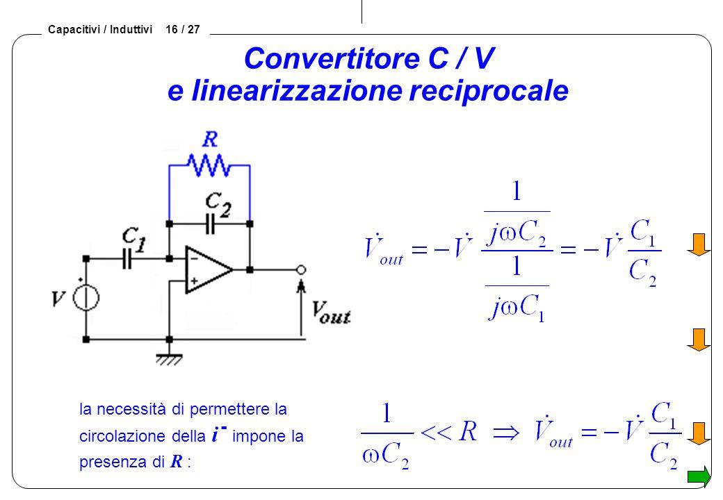 Convertitore C / V e linearizzazione reciprocale