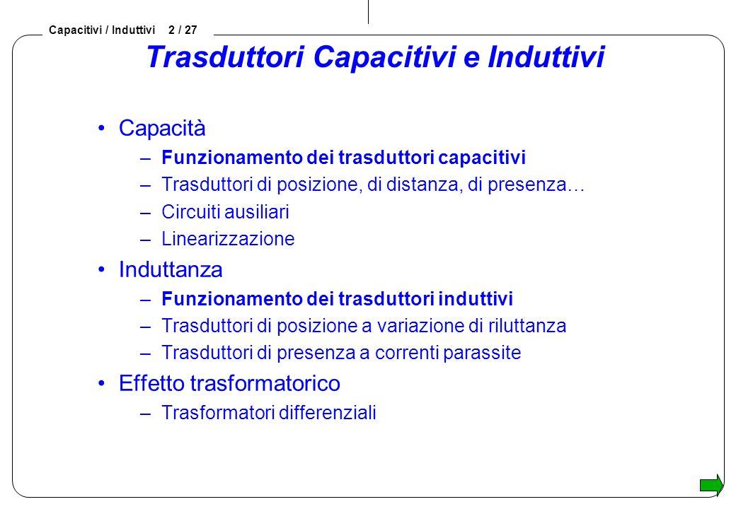 Trasduttori Capacitivi e Induttivi