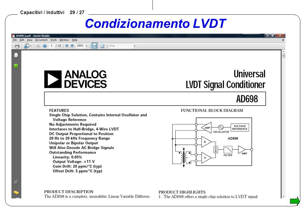 Condizionamento LVDT