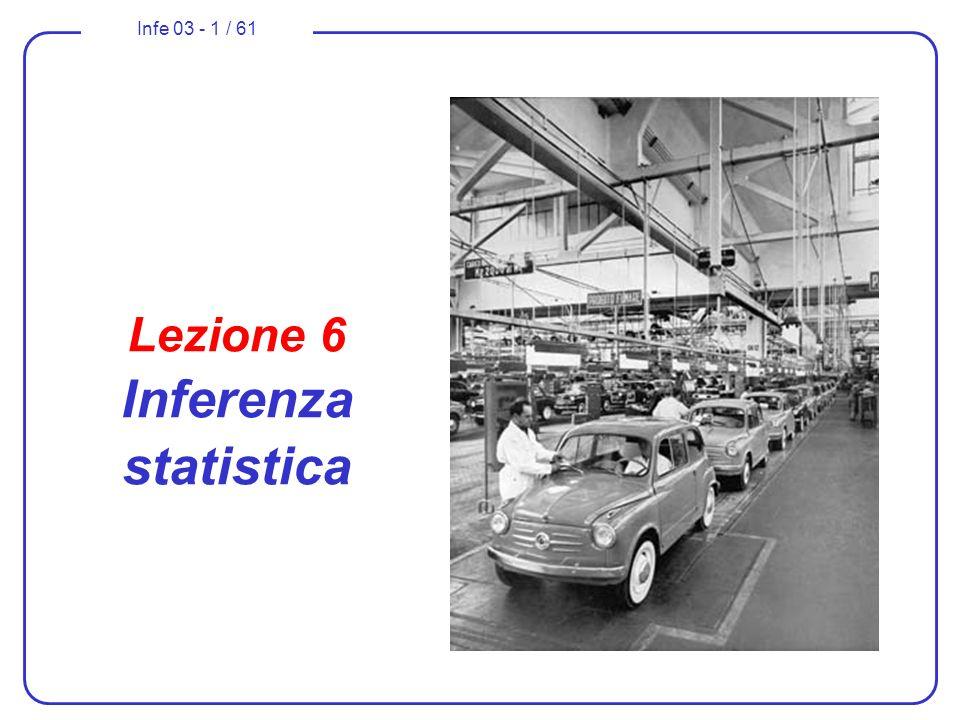Lezione 6 Inferenza statistica