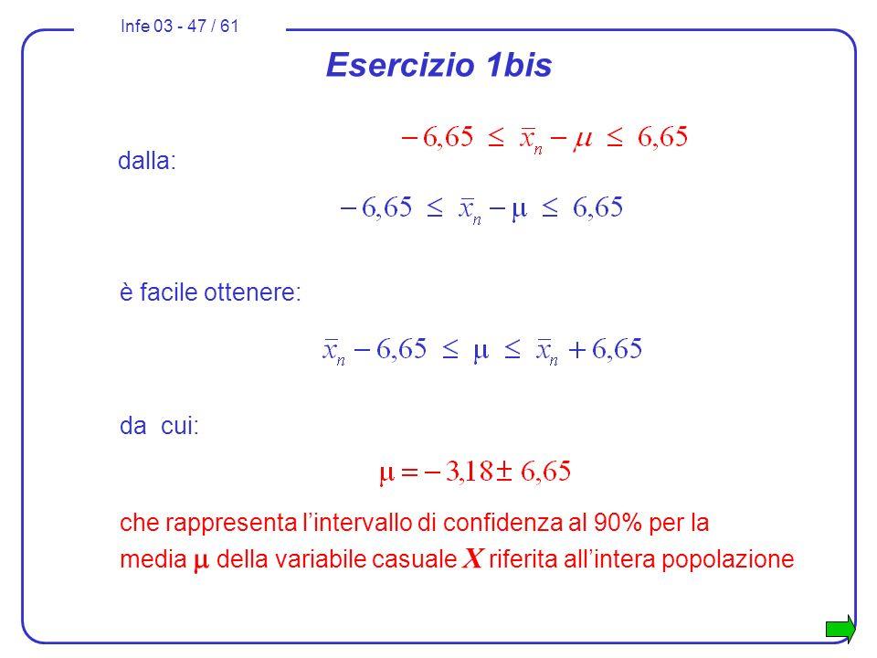 Esercizio 1bis dalla: è facile ottenere: