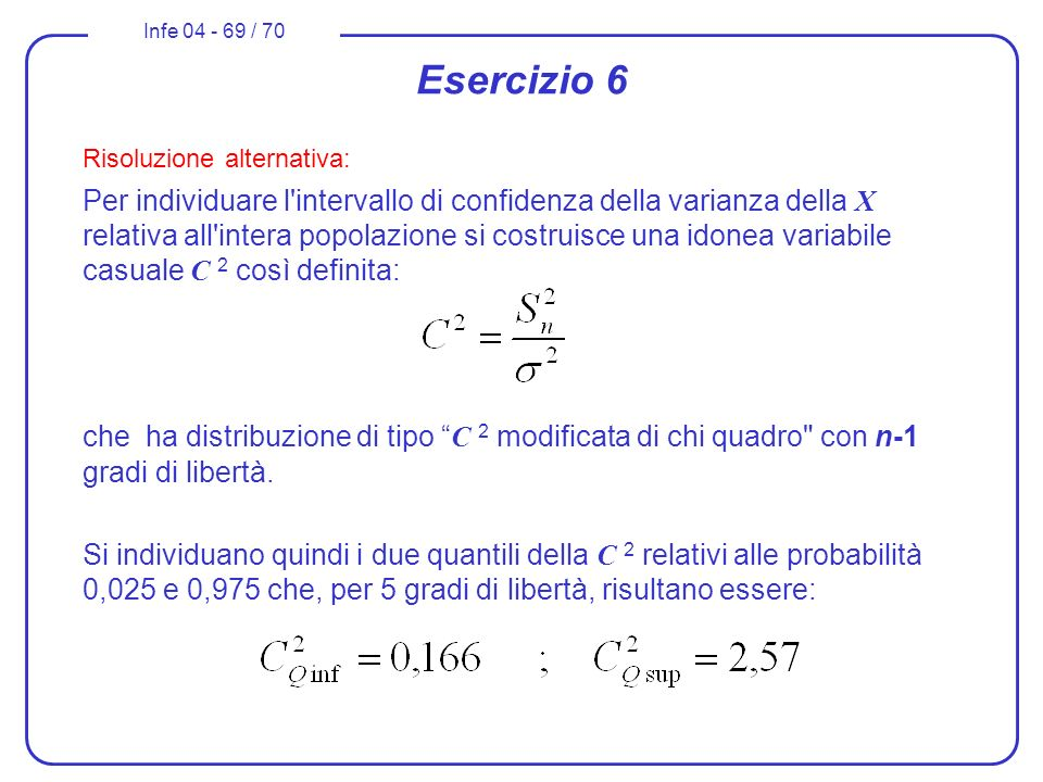 Esercizio 6 Risoluzione alternativa: