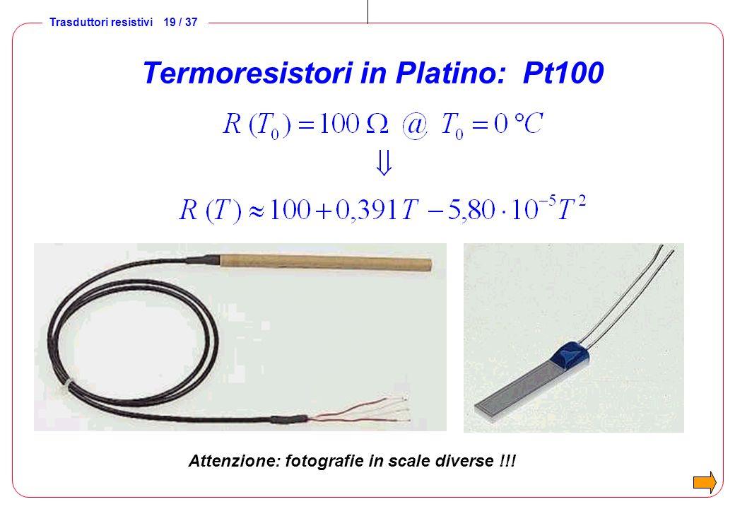 Termoresistori in Platino: Pt100