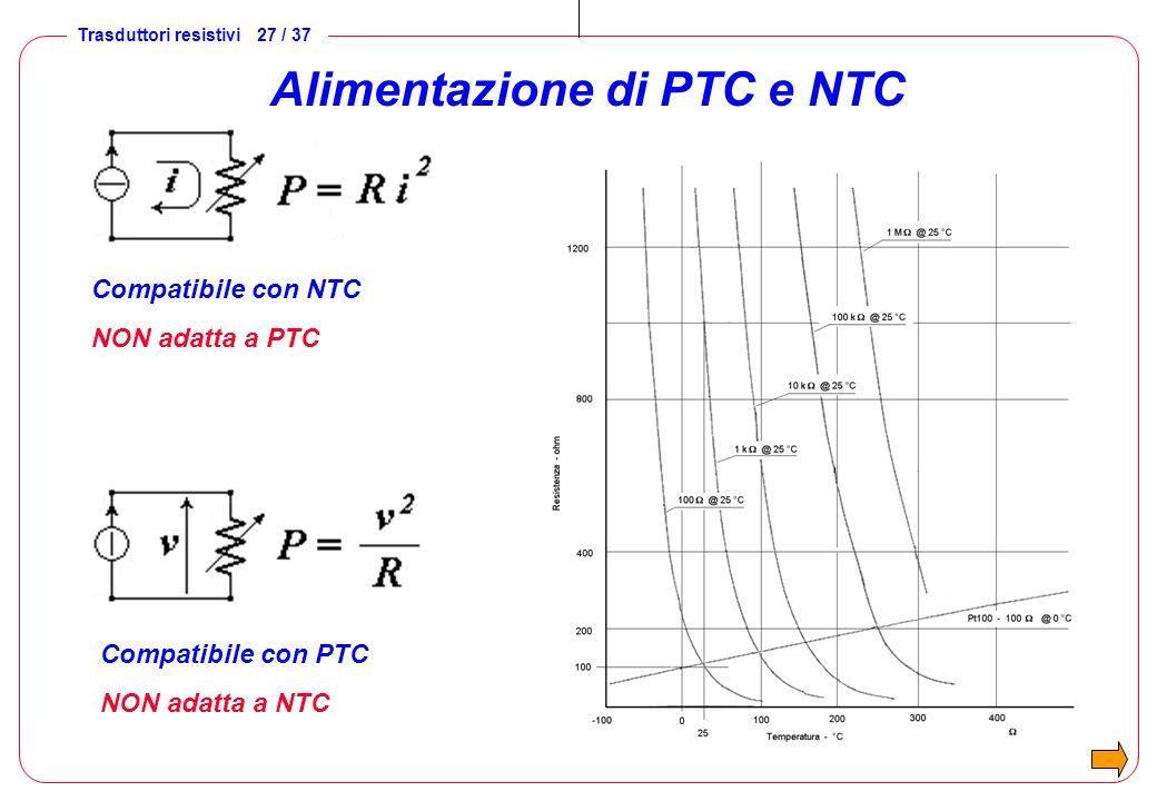 Alimentazione di PTC e NTC