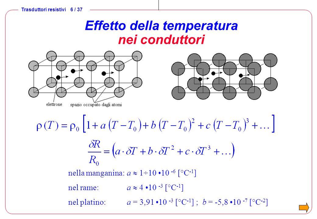 Effetto della temperatura nei conduttori