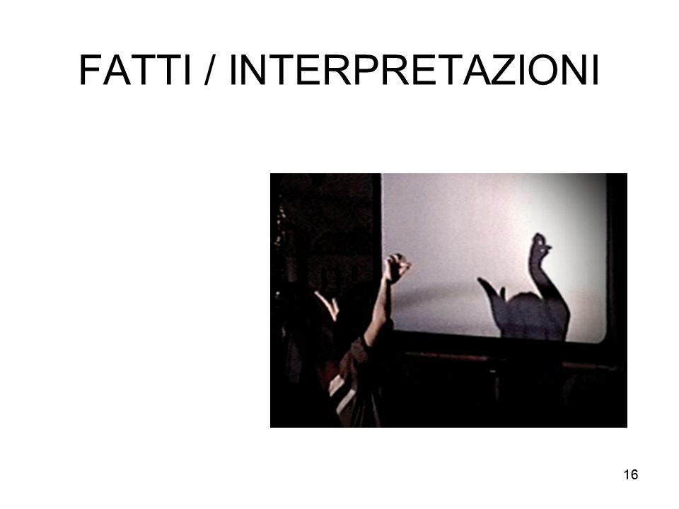 FATTI / INTERPRETAZIONI