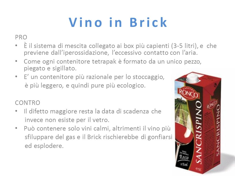 Vino in Brick PRO.