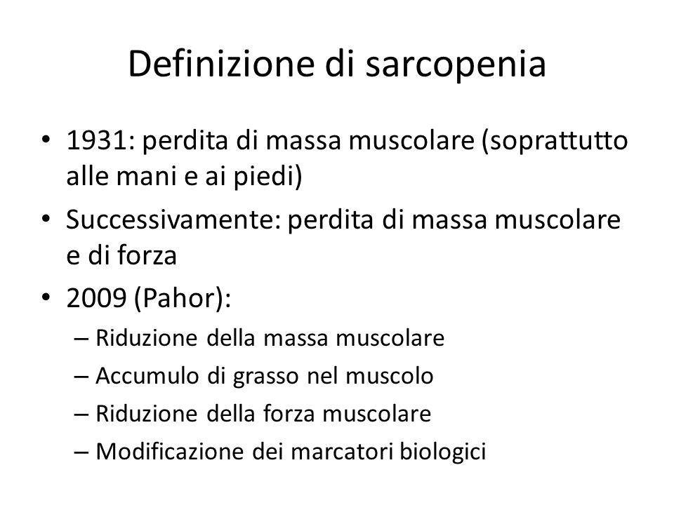 Definizione di sarcopenia