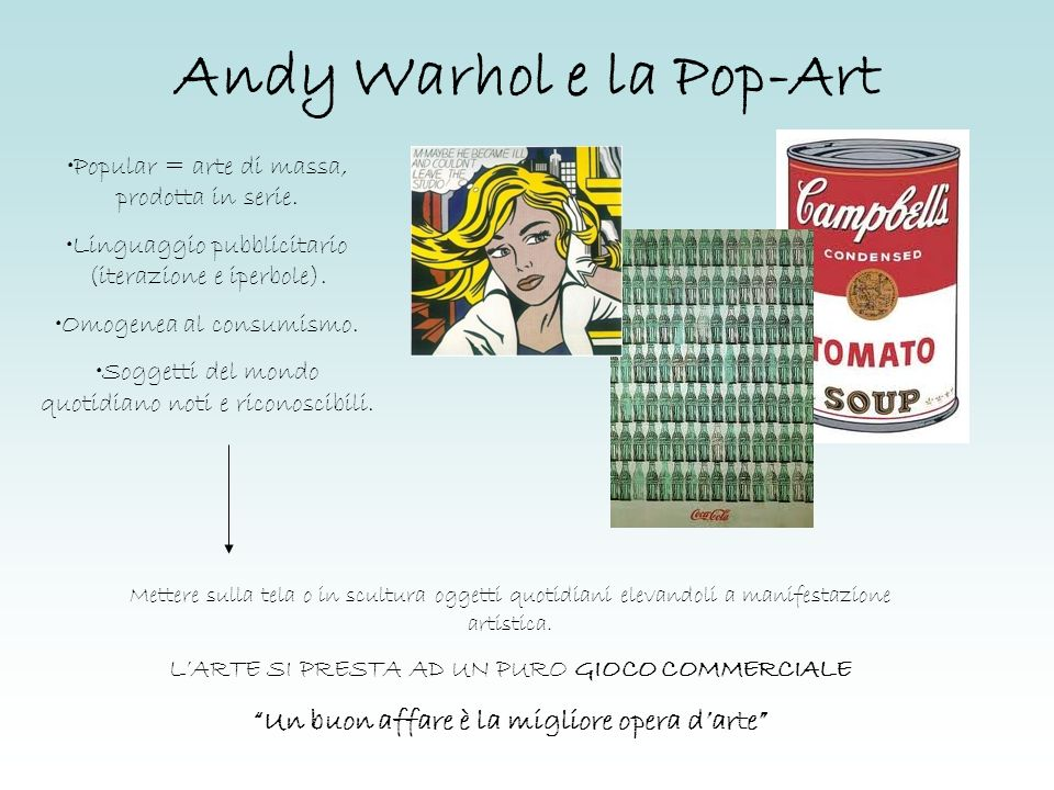 Andy Warhol e la Pop-Art