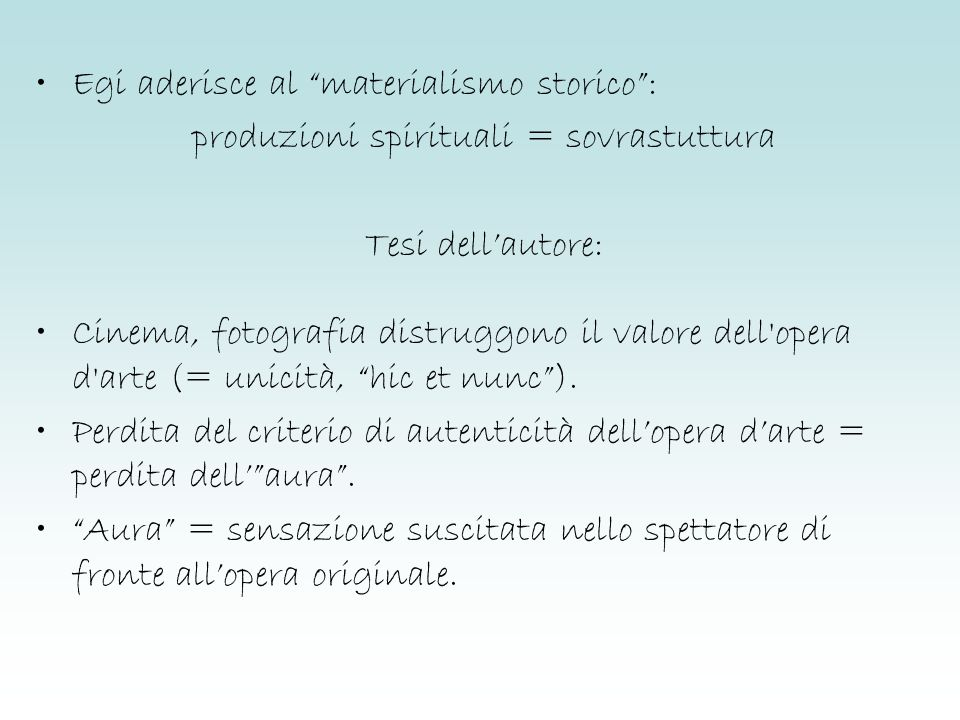 produzioni spirituali = sovrastuttura