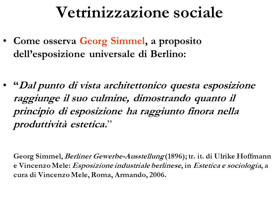 Vetrinizzazione sociale