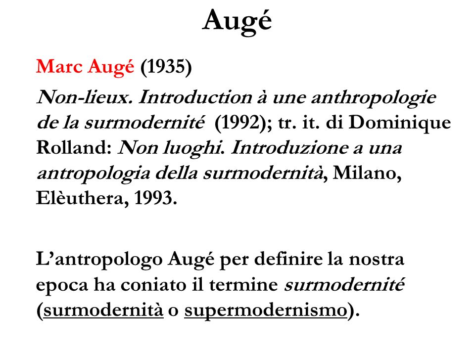 Augé Marc Augé (1935)