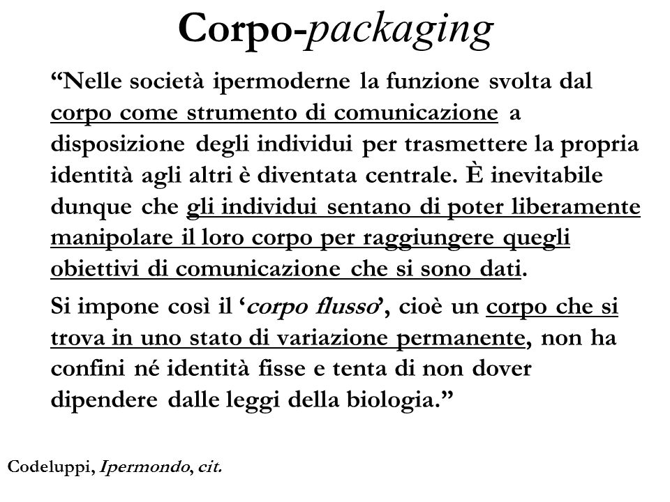 Corpo-packaging