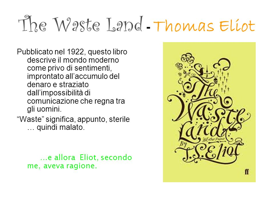The Waste Land - Thomas Eliot