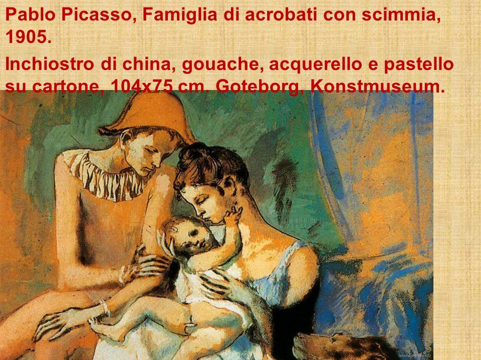 Pablo Picasso, Famiglia di acrobati con scimmia, 1905