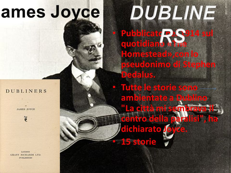 James Joyce Dubliners. Pubblicato nel 1914 sul quotidiano «The Homestead»,con lo pseudonimo di Stephen Dedalus.