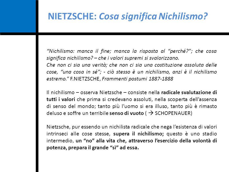 NIETZSCHE: Cosa significa Nichilismo