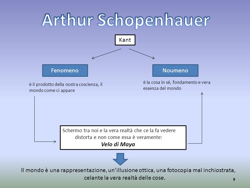 Arthur Schopenhauer Kant Fenomeno Noumeno Velo di Maya