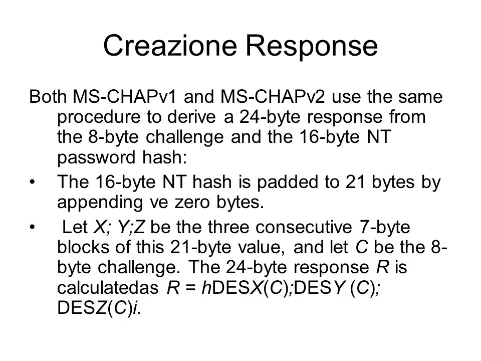 Creazione Response