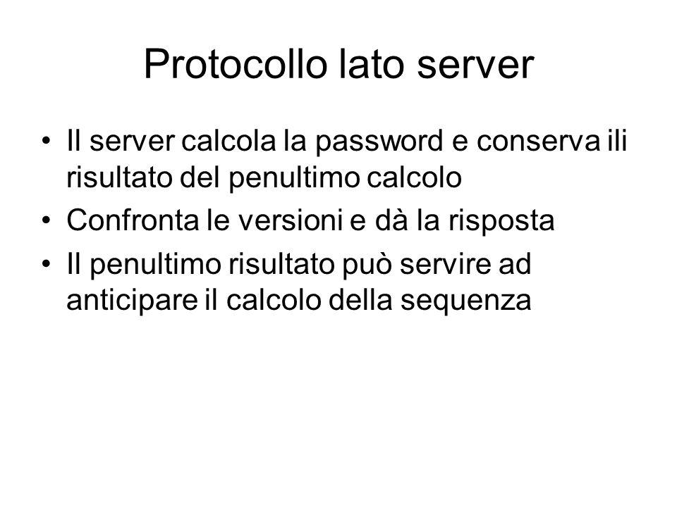 Protocollo lato server