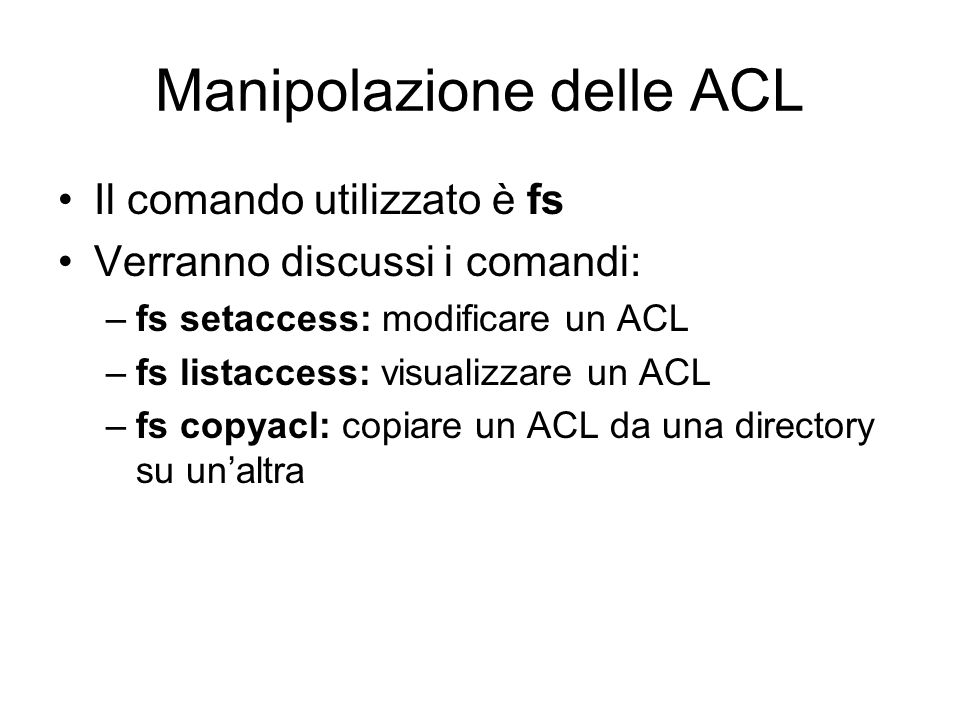 Manipolazione delle ACL