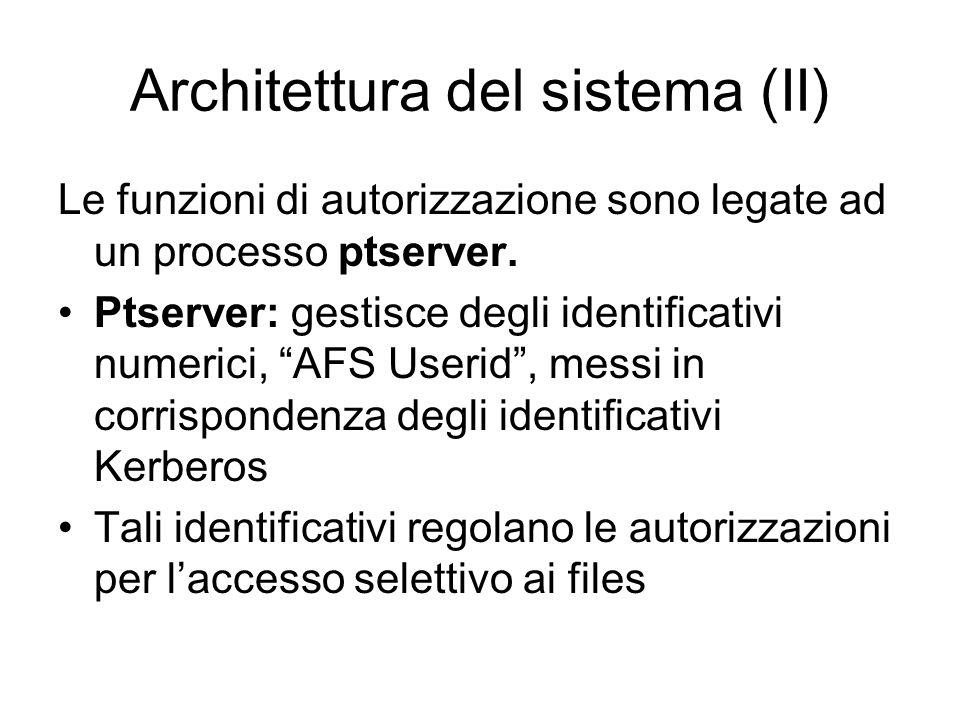 Architettura del sistema (II)