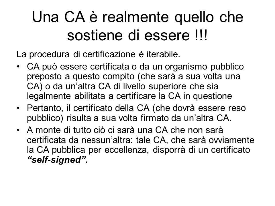 Una CA è realmente quello che sostiene di essere !!!