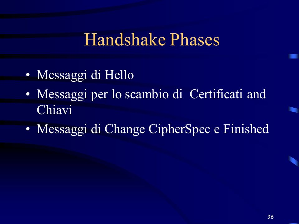 Handshake Phases Messaggi di Hello