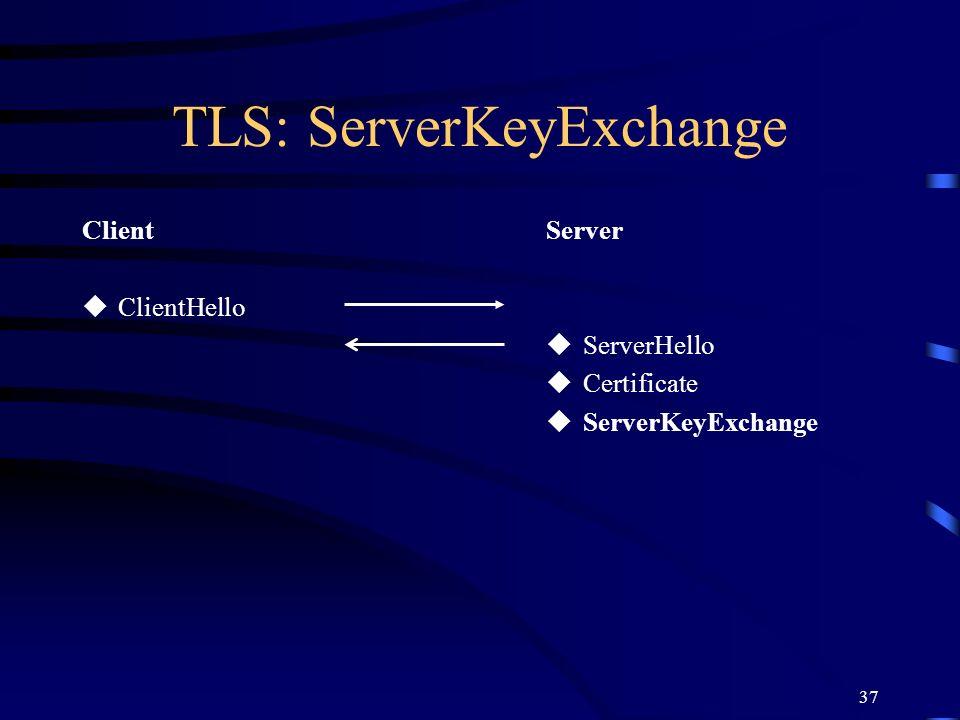 TLS: ServerKeyExchange