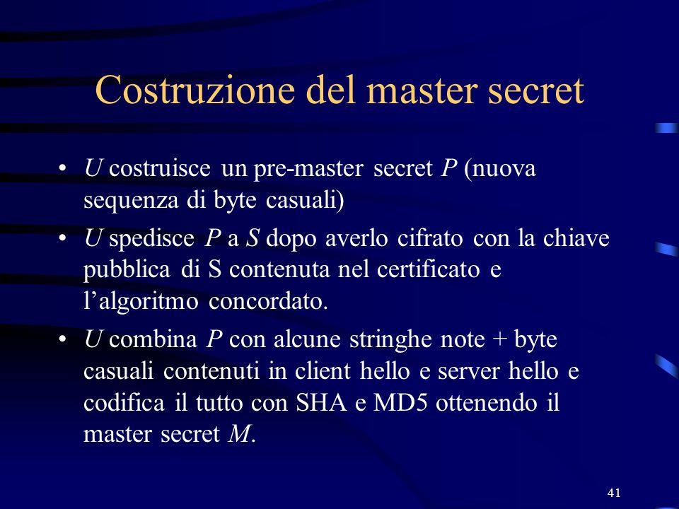 Costruzione del master secret