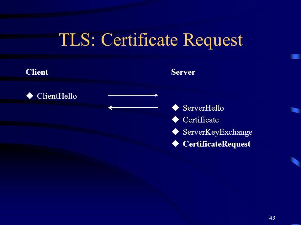TLS: Certificate Request