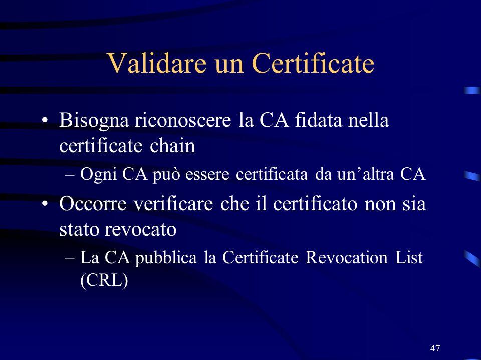Validare un Certificate