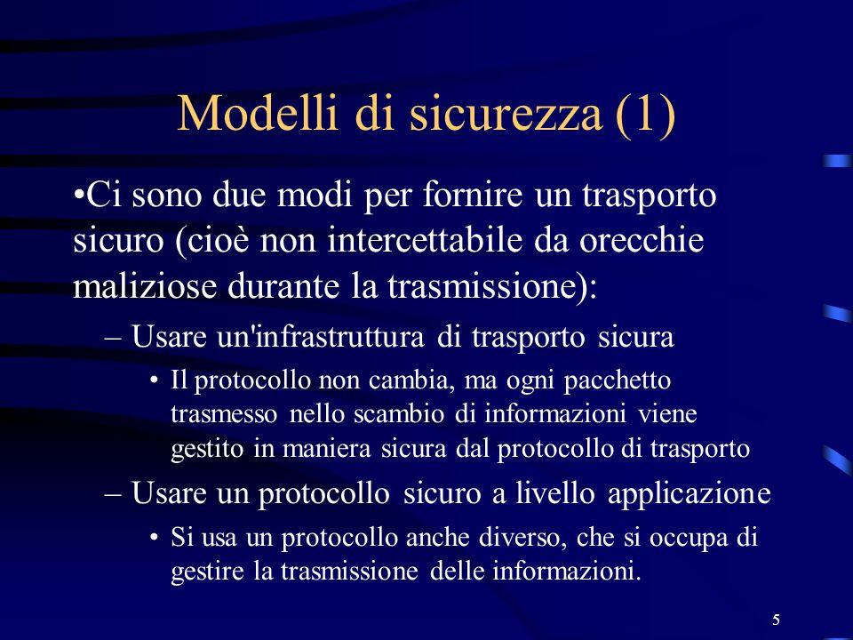 Modelli di sicurezza (1)