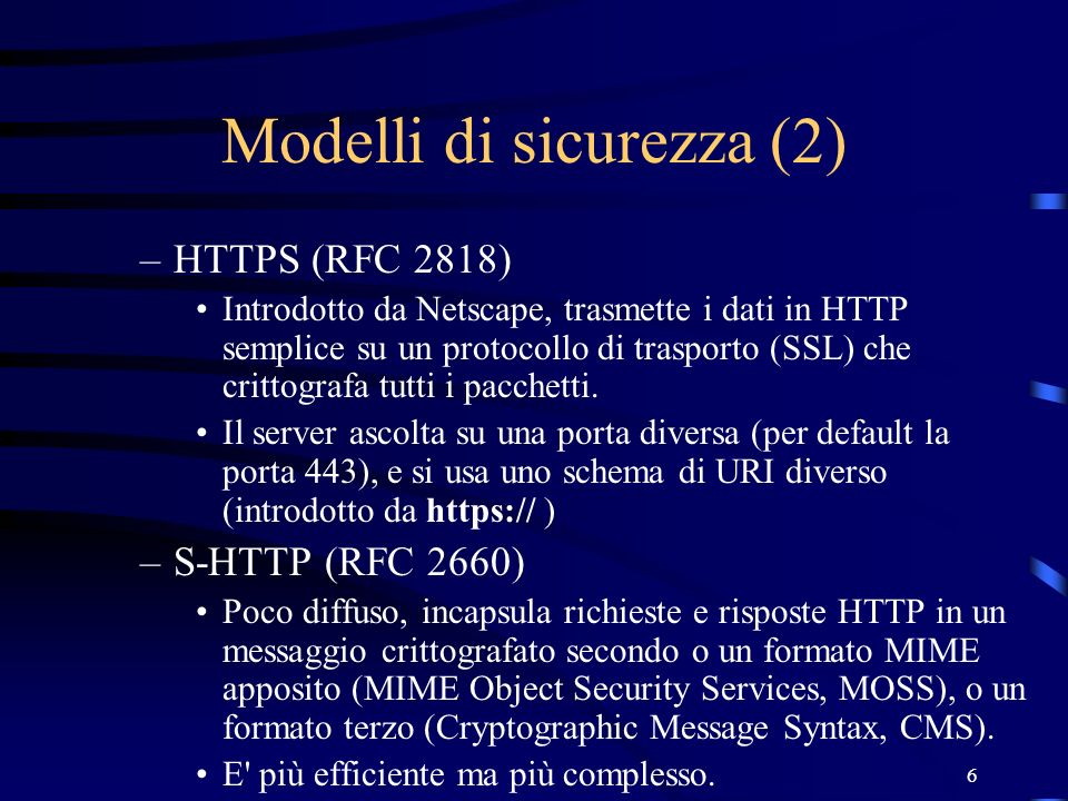 Modelli di sicurezza (2)