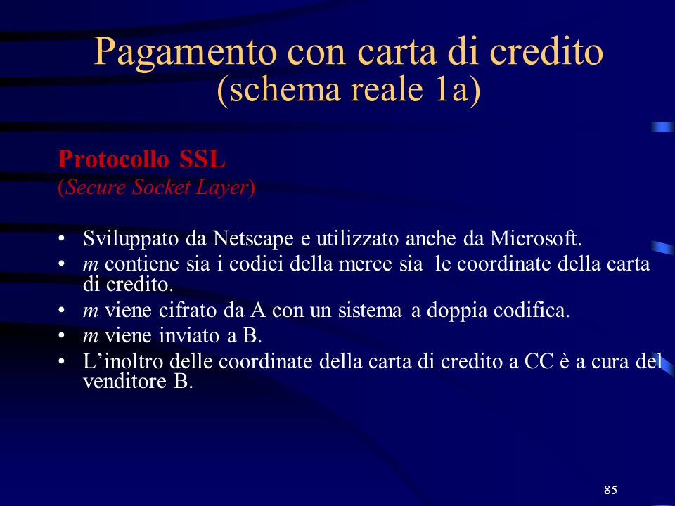 Pagamento con carta di credito (schema reale 1a)