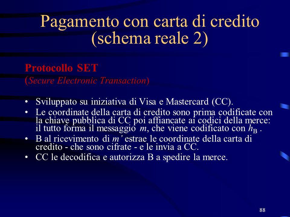 Pagamento con carta di credito (schema reale 2)