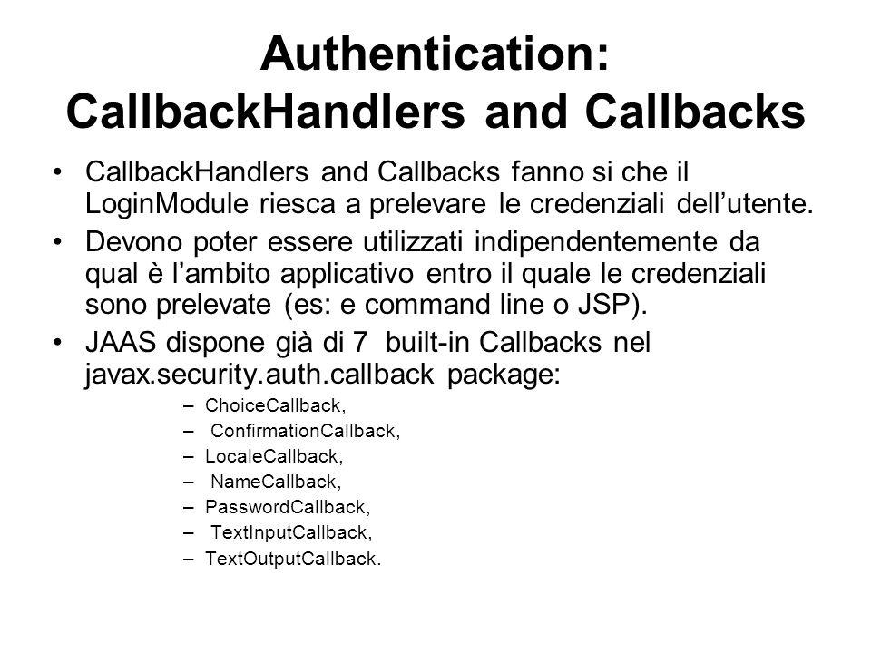 Authentication: CallbackHandlers and Callbacks